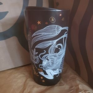 Starbucks Mermaid Black Tumbler 12 oz